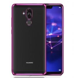 Coque TPU Huawei Mate 20 Lite Chromée Rose