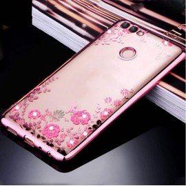 Coque Silicone Huawei P Smart Glam Or Rose