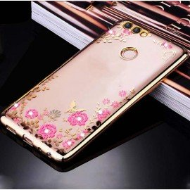 Coque Silicone Huawei P Smart Glam Or