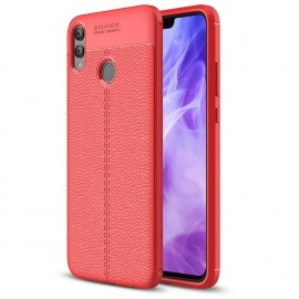 Coque Silicone Honor 8X Cuir 3D Rouge