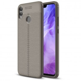 Coque Silicone Honor 8X Cuir 3D Grise