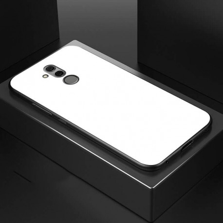 Coque Huawei Mate 20 Lite Silicone Blanche et Verre Trempé
