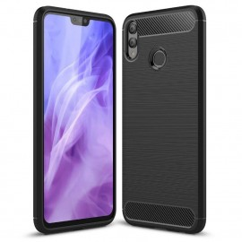 Coque Silicone Honor 8X 3D Carbone Noir