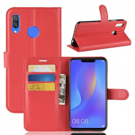 Etuis Portefeuille Honor 8X Simili Cuir Rouge