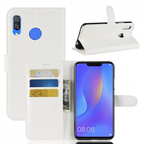 good quality detailing 50% price Etuis Portefeuille Honor 8X Simili Cuir Blanc
