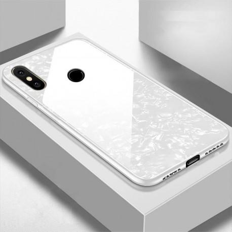 Coque Xiaomi Redmi Note 6 Pro Silicone Blanche et Verre Trempé