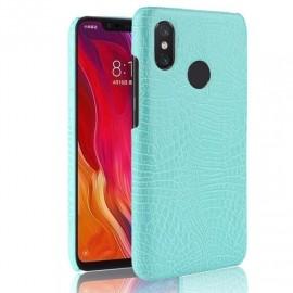 Coque Xiaomi Redmi Note 6 Pro Croco Cuir Turquoise
