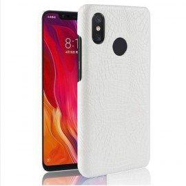 Coque Xiaomi Redmi Note 6 Pro Croco Cuir Blanche