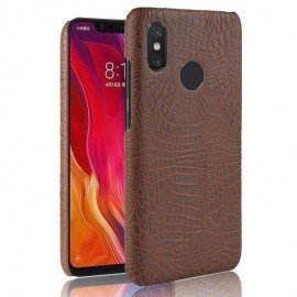 Coque Xiaomi Redmi Note 6 Pro Croco Cuir Marron