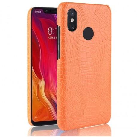 Coque Xiaomi Redmi Note 6 Pro Croco Cuir Orange