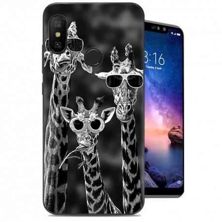 Coque Silicone Xiaomi Redmi Note 6 Pro Girafes