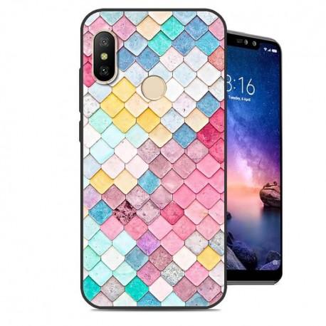 Coque Silicone Xiaomi Redmi Note 6 Pro Aquarelles