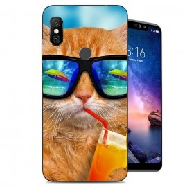 Coque Silicone Xiaomi Redmi Note 6 Pro Chat Cool