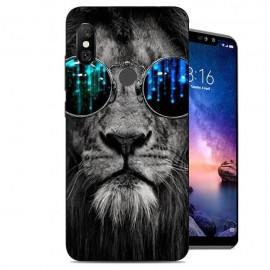 Coque Silicone Xiaomi Redmi Note 6 Pro Lion Selfie