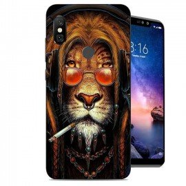 Coque Silicone Xiaomi Redmi Note 6 Pro Lion Cool