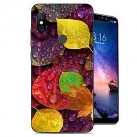 Coque Silicone Xiaomi Redmi Note 6 Pro Feuilles