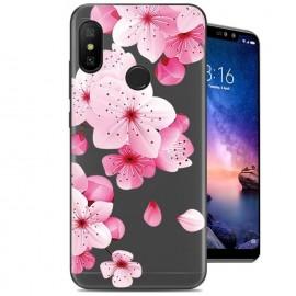 Coque Silicone Xiaomi Redmi Note 6 Pro Fleurs
