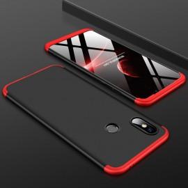 Coque 360 Xiaomi Redmi Note 6 Pro Noir et Rouge