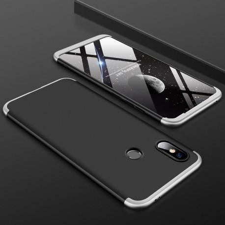 Coque 360 Xiaomi Redmi Note 6 Pro Grise et Noir