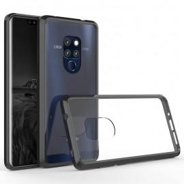 Coque Huawei Mate 20 Hybrid Transparent et Noir Anae