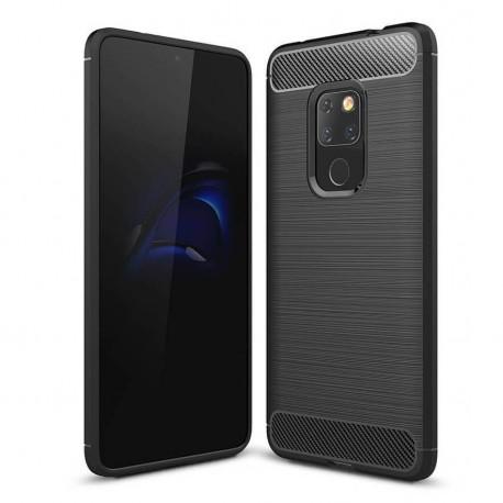 Coque Silicone Huawei Mate 20 Brossé Noire