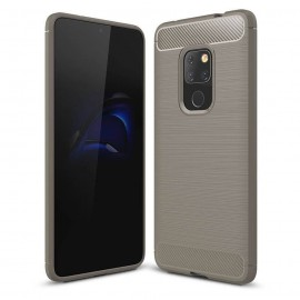Coque Silicone Huawei Mate 20 Brossé Grise