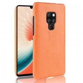 Coque Huawei Mate 20 Cuir Croco Orange