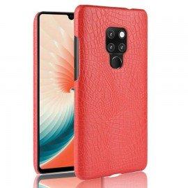 Coque Huawei Mate 20 Cuir Croco Rouge