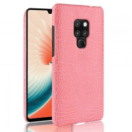 Coque Huawei Mate 20 Cuir Croco Rose