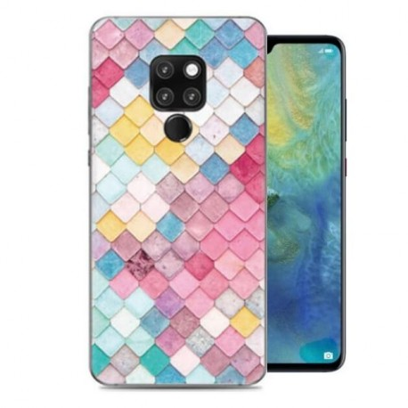 Coque Silicone Huawei Mate 20 Aquarelles