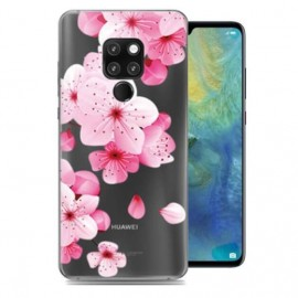 Coque Silicone Huawei Mate 20 Fleurs