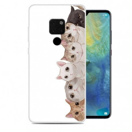 Coque Silicone Huawei Mate 20 Chatons