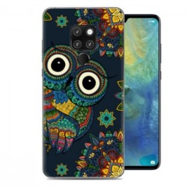 Coque Silicone Huawei Mate 20 Hiboux