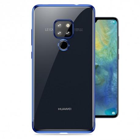Coque Huawei Mate 20 Silicone Chromée Bleu