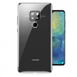 Coque Huawei Mate 20 Silicone Chromée Argent