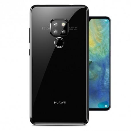 Coque Huawei Mate 20 Silicone Chromée Grise