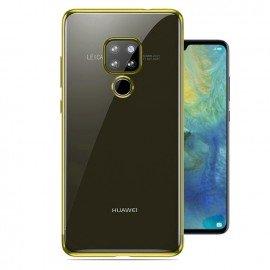 Coque Huawei Mate 20 Silicone Chromée Dorée