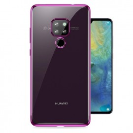 Coque Huawei Mate 20 Silicone Chromée Rose