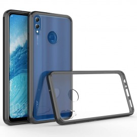 Coque Honor 8X Hybrid Transparent et Noir Anae
