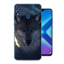 Coque Silicone Honor 8X Loup