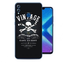 Coque Silicone Honor 8X Vintage