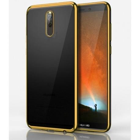 Coque Huawei Mate 10 Lite Silicone Chromée Or