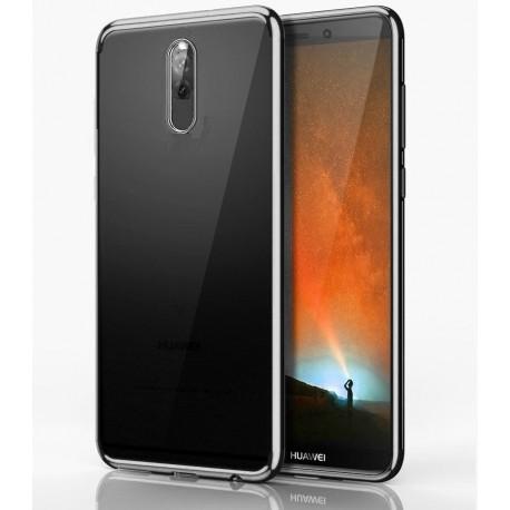 Coque Huawei Mate 10 Lite Silicone Chromée Gris