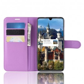 Etuis Portefeuille Huawei Mate 20 Simili Cuir Lila