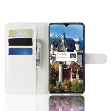 Etuis Portefeuille Huawei Mate 20 Simili Cuir Blanc