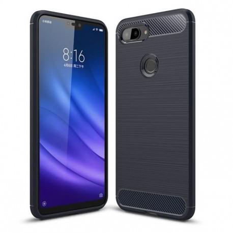 Coque Silicone Xiaomi MI 8 Lite Brossé Bleu