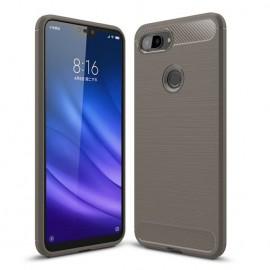 Coque Silicone Xiaomi MI 8 Lite Brossé Grise
