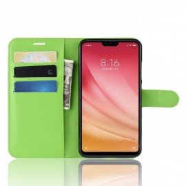 Etuis Portefeuille Xiaomi MI 8 Lite Simili Cuir Vert