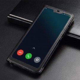 Etuis Xiaomi MI 8 Lite Portefeuille Vision Noir