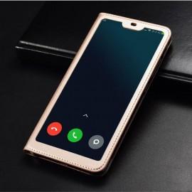Etuis Xiaomi MI 8 Lite Portefeuille Vision Doré